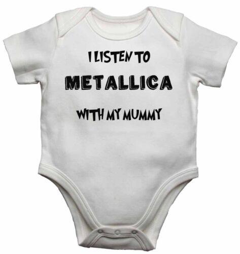 Bambino Body body bambino Cresce I Listen to Metallica With My Mamma Unisex