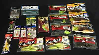Lot Of 19 Fishing Lures Hooks Power Bait Spinner Father's Day Gift For Him
