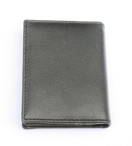 Staffy Black Or Blue Real Leather Bifold Card Holder and Wallet 346