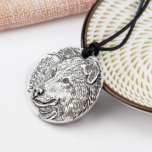 Halskette Wolf Kopf Wikinger Kelten Schmuck Anhänger Nordisch Wolfskopf Viking