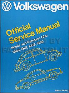 1966 1967 1968 1969 Vw Karmann Ghia Shop Manual Volkswagen Repair Service Book Ebay