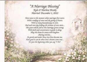 Image Is Loading 034 A Marriage Blessing Personalized Poem For