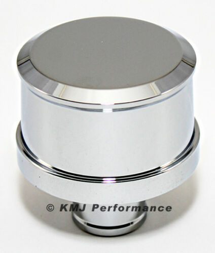 Smooth Top Chrome Aluminum Push In Valve Cover Breather Washable Filter