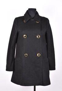Filippa-K-Damen-Wolle-Schwarz-Jacke-Mantel-Groesse-XS