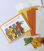 Fenced Floral Happy Birthday Card Kit Made W/ Stampin Up & Other Products