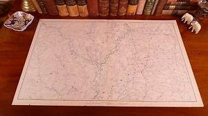 Large Original Antique Civil War Map ARKANSAS Little Rock