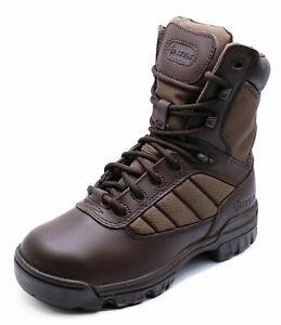 Senoras-Bates-8-034-Tactical-Deporte-Ejercito-Cuero-Patrulla-Combate-Militar-Botas-Talla-3