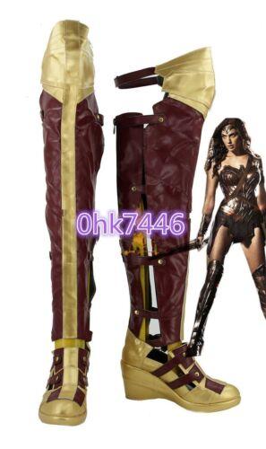 Batman v Superman Wonder Woman Diana Prince Long Boots Cosplay Shoes Custom