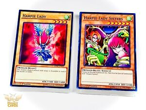 3X Harpie Lady Sisters Common Sisters of the Rose Yu-Gi-Oh! LED4-EN006