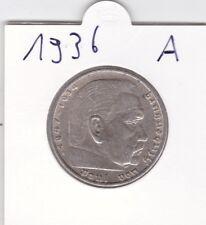 5 Reichsmark 1936 A Hindenburg  - SILBERMÜNZE