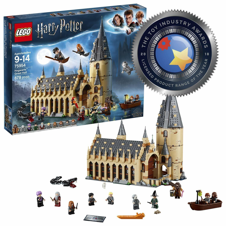 LEGO Hogwarts Great Hall Harry Potter Model Building Toy + Minifigures Kids Set