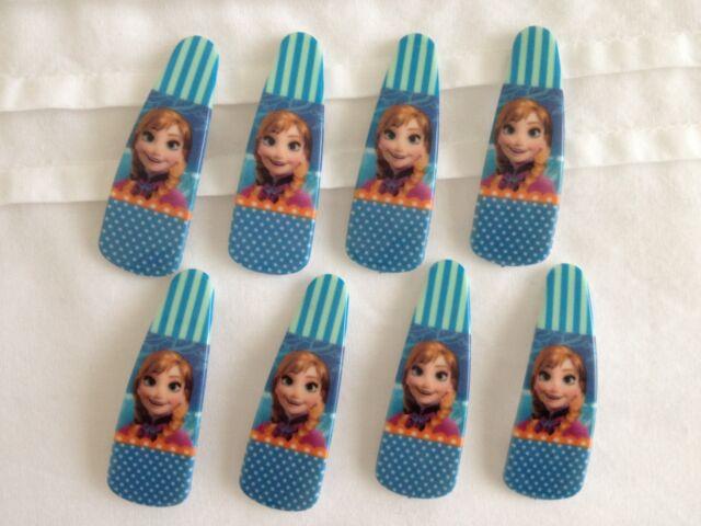 1 PAIR FROZEN HAIR CLIPS ANNA (ELSA'S SISTER) BIRTHDAY PARTY LOLLY BAG/TREAT BOX