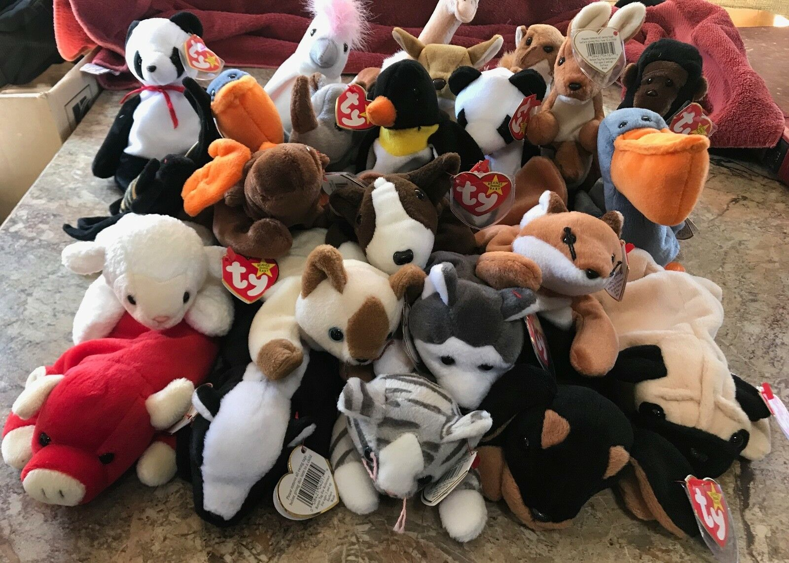 24 Ty Beanie Babies Various Animals