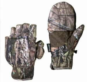 Mens L/XL 3M Pop Top Mossy Oak Breakup Glomitts Thinsulate Insulated Gloves Camo