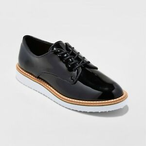 3c1879e99 NEW Women's Jaynee Platform Oxford Shoes - A New Day Patent Black | eBay