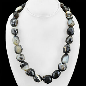FINEST-QUALITY-EVER-1068-30-CTS-NATURAL-UNTREATED-BANDAIT-ONYX-BEADS-NECKLACE