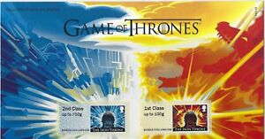 GREAT BRITAIN 2018 GAME OF THRONES POST AND GO STAMPS IN PACK