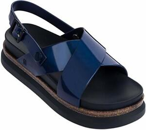 ec55444c3c42 Melissa Shoes Women s Cosmic Sandal + Away to Mars Blue Size 8 M US ...