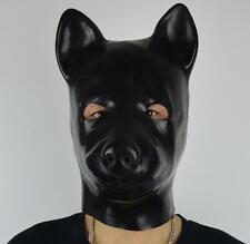 Latex Fetish Black Latex Dog Halloween Rubber Dog Head Mask 1.0mm Dog Mask