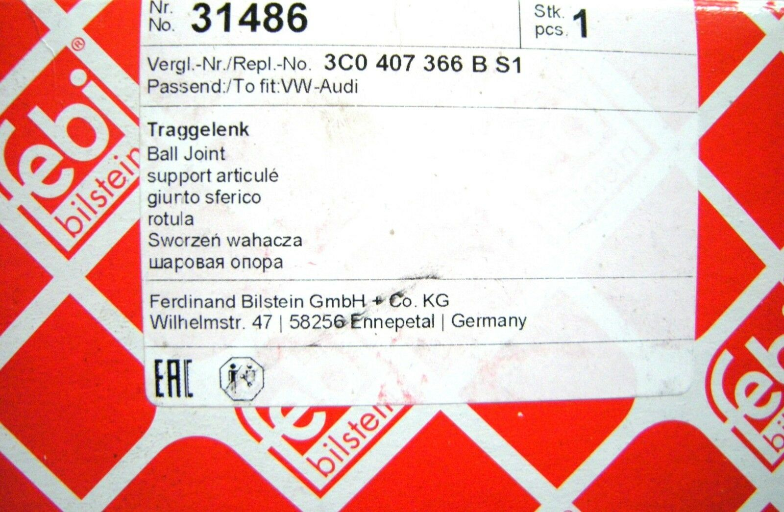 FEBI BILSTEIN Traggelenk PROKIT VA passend für MB Modelle Nr 01433