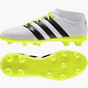 best service f4306 d6a03 Details about adidas Womens Ace 16.3 Primemesh FG/AG White Football Boots  Girls Ladies 3,4,5,6