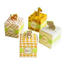 24 Mix Born To Be Wild Jungle Theme Baby Shower Favor Candy Box Giraffe Elephant