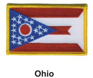 Flag of Ohio Embroidered PATCH//BADGE