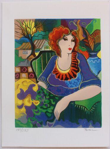 COA Sitting PrettySmall Serigraph Hand Signed by Artist Patricia Govezensky