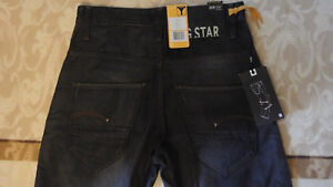 66763be1094 Men s G-Star Raw ARC LOOSE TAPERED Cotton Pants Black Jeans W30L34 ...