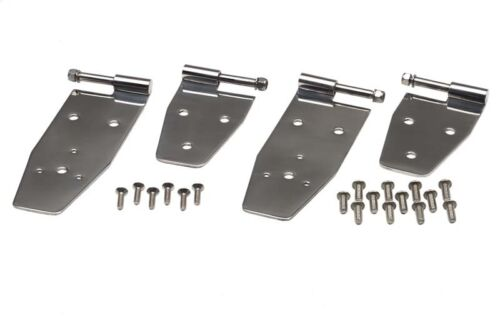 Hardtop Door Hinge Set 4 Pcs Polished Stainless for Jeep Wrangler YJ 94-95 30469