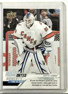 19-20 Upper Deck David Ayres Game Dated Moments E-Pack Exclusive Card In Hand