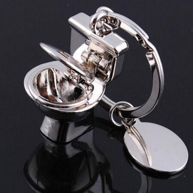 Fashion Cute 3D Key Ring Keyfob Keychains Gift Creative Toilet Lovely Keyrings