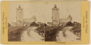 Germania Rudelsburg Naumburg Foto ThL4n53 Stereo Vintage Albumina c1870