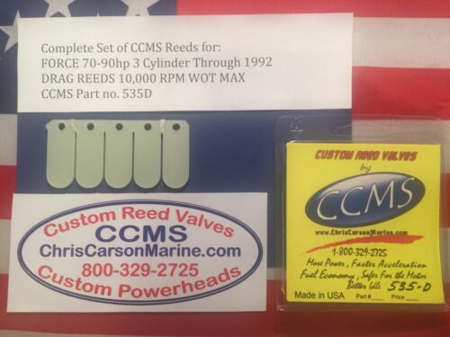 CCMS Force Drag Outboard Reed Reeds 70-90 hp 3 Cyl Through 1992 PN535D