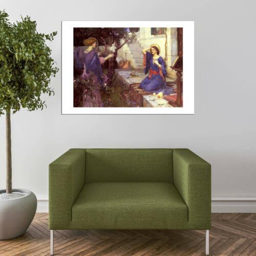 John William Waterhouse-l/' Annonciation Wall art POSTER print