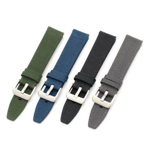New Cordura military watchband strap, 4 colors, 20mm, 22mm, built-in spring bars