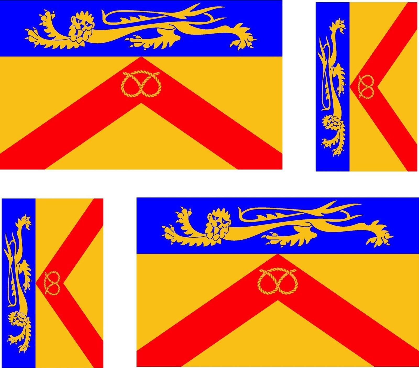 4 x sticker vinyl decal county flag uk bumper windows car moto worcestershire