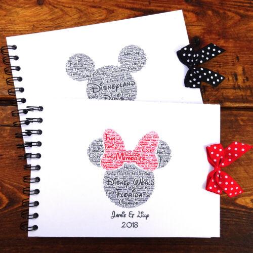Mickey//Minnie Mouse Disney Land//Disneyworld Personalised Disney Autograph Book
