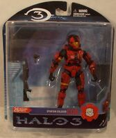 Halo 3 Video Game Matchmaking Series 2 - Spartan Soldier Cqb Red Mcfarlane (moc)