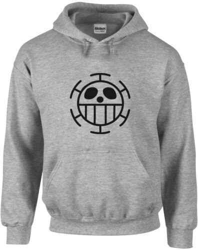Anime One Piece Inspired Printed Hoodie Hooded Fitness Pullover Heart Pirates!