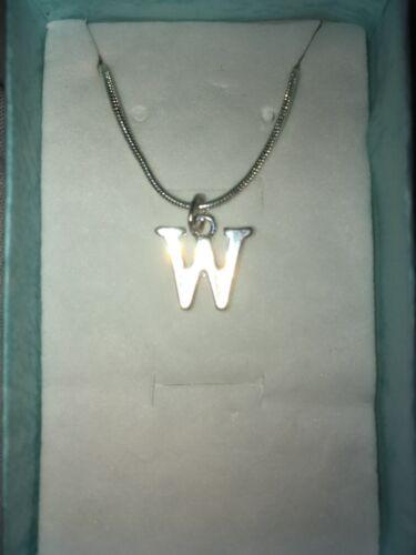 """Collar Colgante Letra /""""W/"""" 2"""