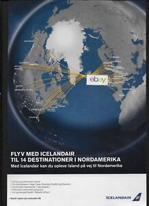 Details about ICELANDAIR 2015 ROUTE MAP 13 USA/CANADA DESTINATIONS on biman route map, tacv route map, jetblue route map, flying tiger line route map, south african airways route map, lot polish route map, volaris route map, airline route map, union pacific railroad route map, casino express route map, jfk airtrain route map, xtra airways route map, tame route map, xl airways route map, florida route map, republic airways holdings route map, new jersey transit route map, delta airlines 757 seat map,
