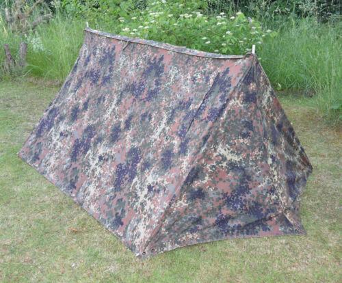 ORIGINAL Bundeswehr Flecktarn Zweimannzelt komplett mit Zubehör BW Zelt Camping