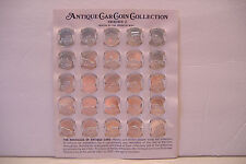~ SUNOCO ANTIQUE CAR COIN COLLECTION~SERIES 2~COMPLETE SET OF 25~WITH HOLDER~