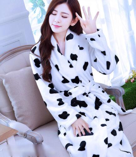 Winter Women Thick Flannel Sleepwear Warm Indoor Pajamas Bathrobe Loungewear