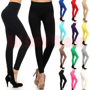 b7d5078860992 Women Plain Seamless Full Length Sports Gym Yoga Running Fitness ...