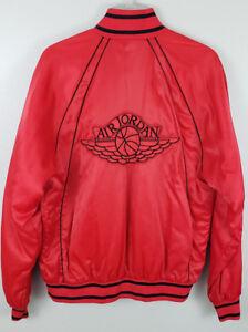 52ee33df99f 80s Vintage Authentic Nike Air Jordan Wings Satin Bomber Jacket Red ...