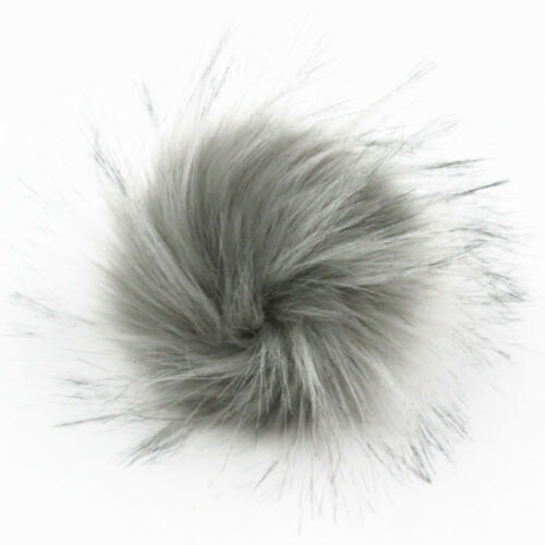 Pack of 12 Faux Raccoon Fur PomPom Ball for Hat 4.3inch Fluffy Crafts DIY
