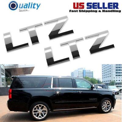 OEM 15925503 LTZ Nameplate Emblem Chrome LH or RH Each for Chevy Pickup SUV