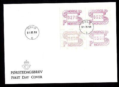 3,20 5,00 01.03.1990 GemäßIgt Norwegen Atm 3 Fdc Tastensatz 2,70 4,00